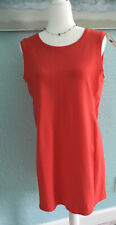 Eileen Fisher PS/PP Red Lory 🍉 Scoop Neck Sleeveless Dress Cotton Stretch R$148