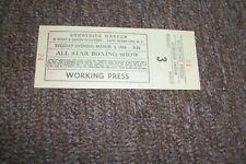 Sunnyside Garden Full Boxing Ticket from Working Press