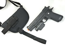 Walther PPQ with Under Barrel Laser | Nylon Shoulder Holster w/ Double Mag Pouch