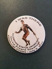"Dealer Lot of (10) 1994 Roberto Clemente Statue Dedication 3"" Pinback Button"