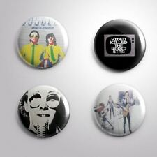 4 Video Killed The Radio Star The Buggles - Pinbacks Badge Button Pin 25mm 1''