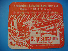 BEER COASTER ~*~ Budweiser SURF SENSATION Promotional Night ~*~ Win a Speed Boat