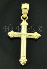 14k solid yellow gold  cross pendant  #4451 0.70 grams h3jewels
