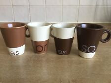 5 + 9 Five + Nine 4 x Espresso Cups / Mugs