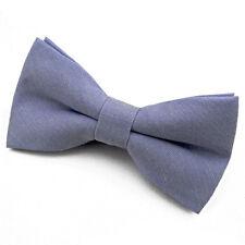 Noeud Papillon Homme coton Bleu denim Mariage Cérémonie Soirée Fête Cadeau Noel