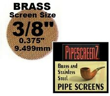 """100+ Count 3/8"""" .375"""" 9.5mm BRASS Pipe Screens HIGHEST QUALITY - MADE IN USA!"""