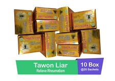 10 Boxes/400 caps of TAWON LIAR relieve rheumatism-ORIGINAL Indonesian Herbs