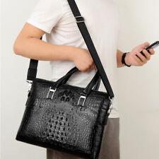 Leather Skin Men Business Bag Laptop Briefcase MENS 100% Genuine Real Crocodile