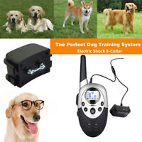 Dog Shock Collar W/Remote Waterproof Electric For Large 1000 Yard Pet Training