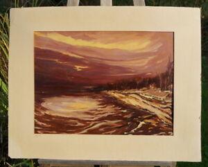 stimmungvolles Ölgemälde Sonnenuntergang Sydney Opitz perfekte Künstlerarbeit
