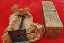 One 1910s Lionel 60 Telegraph poles dark grey & maroon new in wood grained box