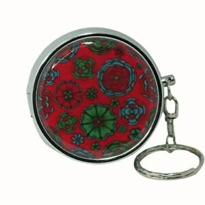 METAL PERSONAL ASHTRAY PORTABLE ASHTRAY STAINLESS STEEL FLORAL RED GREEN BLUE