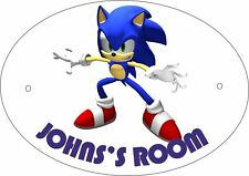 Sonic The Hedgehog Personalised Door Plaque
