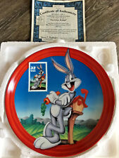 "Looney Tunes Bugs Bunny Collectors Plate ""First Class Wabbit� Bradford Exchange"