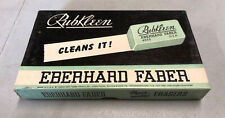 Vintage Eberhard Faber Rubkleen Erasers In Box