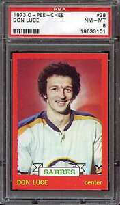 1973-74 O-PEE-CHEE #38 DON LUCE PSA 8 SABRES  *ACG0251