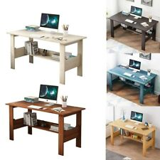 Computer Desk Pc Laptop Table Study Workstation Home Office Withshelf Furniture Us