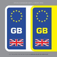 SKU1105 2 x GB Euro Number Plate Stickers EU European Road Legal Car Badge Vinyl