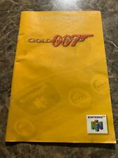GOLDENEYE 007 JAMES BOND - NINTENDO 64 - INSTRUCTION MANUAL ONLY