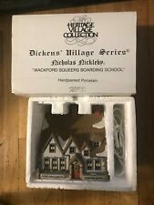Dept 56 Dickens Village Nicholas Nickleby Wackford Squeers Boarding School