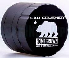 Cali Crusher - Homegrown 4 Piece Herb Grinder - 2.35'' Standard Size - Black