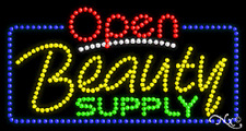 """New """"Open Beauty Supply"""" 32x17 Solid/Animated Led Sign W/Custom Options 25462"""