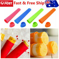24pcs Silicone icy Pole Jelly Pop Ice Mould Cream Block Molds Popsicle Maker AU