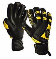 GK Saver Passion Black Negative Cut Goalkeeper Gloves Football Goalie Pro Gloves