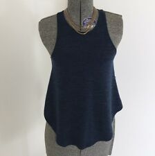 Wilfred Free Burnette Tank Top Blue Black Minimalist Chic Women Size XXS