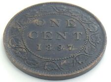 1897 Canada One 1 Cent Large Copper Penny Canadian Circulated Victoria Coin K026
