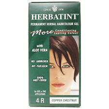 Herbatint Italian Herbal Hair Color Gel w/ Gray Coverage - Copper Chesnut 4R
