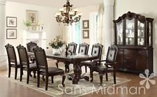 NEW! Kira 10 pc Formal Dining Set, Table w/2 leaves, 8 chairs, and Buffet/Hutch