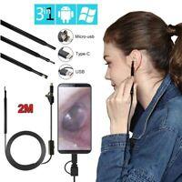 3 in 1 USB OTG Visual Ear Cleaning Endoscope Camera Ear Spoon Borescope Tool