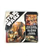Star Wars Coin Album 30th Anniversary Collection Hasbro 2007 3 Coins Included
