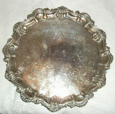 A Fine Antique Solid Silver Tray assay Edinburgh 1850 Samuel Weir approx 470 grm