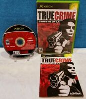 True Crime: Streets of L.A. (Microsoft Xbox, 2003) with Manual - Tested/Working