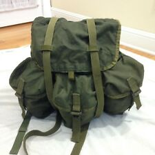 Vintage US Army Surplus Alice Field Pack Military Combat Green Nylon Backpack
