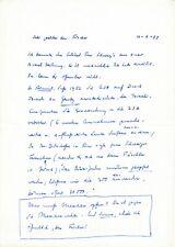 LUISE RINSER - zweiseitiger handgeschriebener Brief, 1977, original, Autogramm