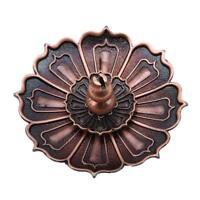 Retro Religious Lotus Incense Burner Holder for Sticks Cones Coils Incense LB