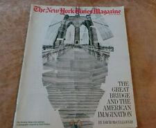 New York Times Magazine Brooklyn Bridge cover by Hockney; NSA; Japan 1983 VG+