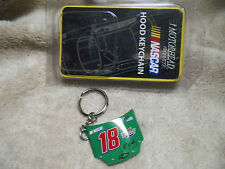 J J YELEY #18 Hood NASCAR Keychain Motorhead 2004 INTERSTATE BATTERIES metal