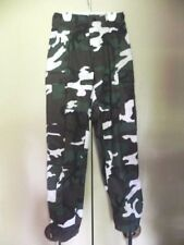 """Men's Pants Trousers Combat Green Camouflage BDU XS Regular Waist To 27"""" Rothco"""