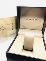 Burberry Inner and Outer Presentation Watch Box with Instructions Manual