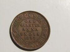 India-British 1897 1/4 Anna unc Coin