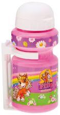 Kinder Fahrrad Trinkflasche Filly unicorn Einhorn mit Halter pink Kappe weiß NEU