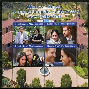 2021 HARRY & MEGHAN IN THE UNITED STATES SHEET OF FOUR MINT NEVER HINGED