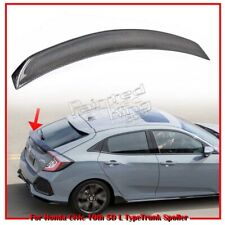 Carbon For Honda Civic X 5DR Hatchback L Look Rear Trunk Boot Spoiler 2016-19