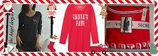 NWT LARGE Victoria's Secret The Angel Sleep Tee RED SANTA'S FAVE Long Slv Shirt