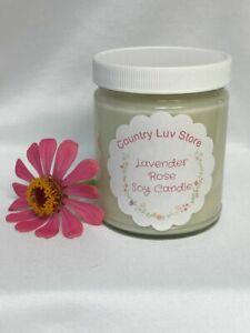 9 oz Lavender Rose Soy Wax Jar Candle