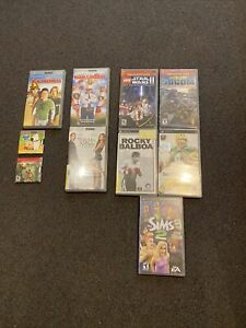 Lot of 10 PSP Games And Movies / 5 Games / 5 Movies Please Check Pictures